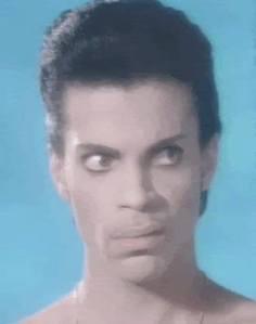 Prince WTF look lip curl