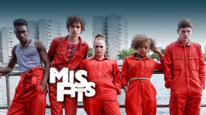 Misfits TV with caption